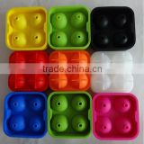 2015 new Promotion 4cavity silicone ice ball mold/ice ball maker/cheap silicone ice ball