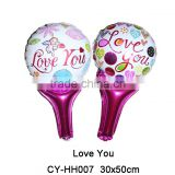 2016New Design hand holder shaped i love you foil balloon for wedding party decoration helium balloon