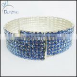 Rhinestone Crystal Silver Stretch Tennis Wedding Chain Bracelets Women's bracelet