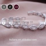 GSSL-8 Wholesale Fashion Hot Selling Brand Rhodium Plated Fashion Zircon Bead Bracelet Jewelry