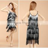 2016 New arrivals sexy latin dance costumes for women girls tassel latin dance dress on sale