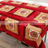 MULTI COLOURED HANDMADE MIRRORWORK TABLE CLOTH~Directly from manufacturer in India