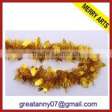 wholesale party decoration curtains christmas gold foil tinsel color customed