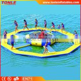 large inflatable water trampoline with ring inflatable water mats for water park