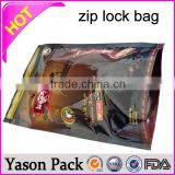 YASON Laminated material PET/PE ,PET/VMPET/PE ,PET/Al/PET zipper aluminum foil bag reusable zipper al bag
