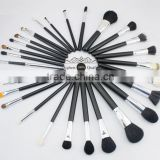 high quality professional 29pcs makeup brushes set with goat hair+pony hair+synthetic hair