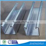 Galvanized perforated struture channel/Unistrut/C channel                                                                         Quality Choice