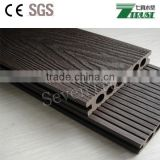 crack-resistant outdoor co-extrusion wpc decking/ factory of recycled material waterproof