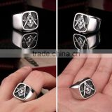 High quality silver masonic championship ring wholesale