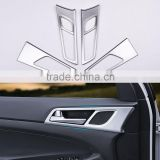 4 Pcs/Set Car Interior Doors Bowl Handle Decorative Frame ABS Cover Trim For Hyundai Tucson 3rd 2015 2016 LHD                                                                         Quality Choice