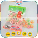 Hot sale fruity double colored sugar coated gummy sweet soft candy