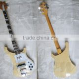 4 string wood colour Rik electric bass guitar