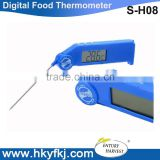 Factory price Hot Selling Digital foldable Food Thermometer Instant-read Kitchen temperature detector