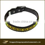 New personalized bead round braided leather dog collar