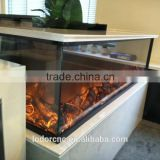3 sided inserts decorative electric fireplace for decorations cafe