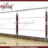 stainless steel fence post/wooden handrail designs                                                                                                         Supplier's Choice