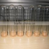 clear plastic round bottom test tube with cork cap                                                                         Quality Choice