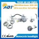hot selling LED 18W Motorcycle bike motor 6000K Hi/Lo bulb light headlight Kit 6-36V h4 h6
