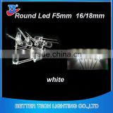 CE ROHS Approve high brightness LED Diode 22000-24000mcd White 5mm LED                                                                         Quality Choice