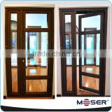Exterior door styles with grill design single hinged