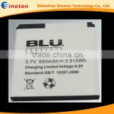 3.7v 950mAh Lithium ion Rechargeable Battery C474705100T For BLU Dash jr D140