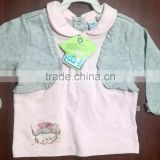 BABY GIRL TOP POLO NECK WITH CAT EMBROIDERY
