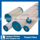 10 inch 5 um polyester pleated filter cartridge for swing pool and spa filtration