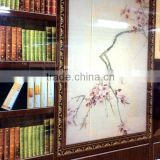 Decorative glass, ceramic digital printing glass, animating book cabinet, Tempered glass