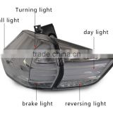 New Product 14-16Years For Modified X-TRAIL Tail Light Accembly LED Tail Light Red Smoke Black