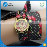 PW055 New 2016 fashion best watch brands Decorative pattern cloth quartz watch china style women dress small dial watches