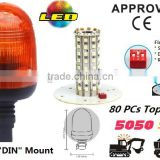 E-MARK SMD Flash Warning Light, ECE MARK SMD Rotating Warning Beacon (SR-BL-501S-8) Flexible DIN Mount LED Beacons, 3 Functions