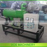 Low price poultry manure dewatering machine/chicken manure dryer/cow dung solid-liquid separator