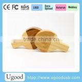 Natural Wooden USB Flash Drive, Customized Logo High Speed bamboo USB stick, popular gift USB pendrive