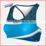 Sexy sublimation Cheer sport bra low MOQ