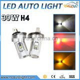 New H4 30W LED Car Fog Lamp h4 led headlight Bulb Auto lights car led bulbs Car Light Source parking 12V 6000K xenon White