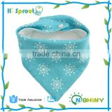 100% soft thick fleece baby bibs printed Baby bandana absorbency baby bibs