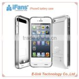iFans 2400mah High quality rechargeable backup battery case for iphone 5 battery case with MFi