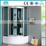 2016 New hot Square Shower Cabin& Freestanding Jakuzy Shower Room& Touch Screen Panel Bathroom Booth