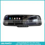 5 inch Bluetooth handsfree car kit Android rear view mirror monitor and waterproof camera