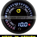 60mm Japnease design White/Amber LED Electrical analog&digital display Air/Fuel Ratio Gauge/ with Warning
