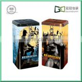 Rectangle money metal saving can with batman paining