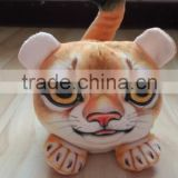 factory wholesale 3D plush lion cellphone seat plush toy lion shaped mobile phone holder plush animal shaped mobile seat holder
