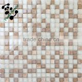 MB SMS07 Decorative Natural Stone Mix Crystal Glass Mosaic Tile Bathroom Wall Tile Shower Room Mosaic Tile