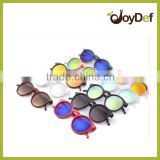 2016 The plastic round retro various design style natural price polarized sunglasses with mirror lens