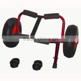 Popular design L Version Kayak Cart , Folding Kayak Carrier ,Aluminum Kayak Beach Trolley