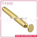 Vibration slimming face massager gold energy bar/ beauty roller O shape Skin Tightening