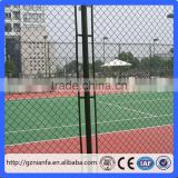 Hot selling cheap custom pvc coated chain link basketball court fence(Guangzhou Factory)