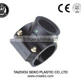 China supplier 20mm hdpe pn 16 pipe/ pp SADDLE compression fitting adding exit clamp saddle