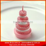 Large Pink Cake Shaped Beautiful Birthday Candles In Bulk