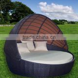 modern design rattan furniture rattan sunbed with canopy